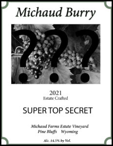 Michaud Farms Wyoming Winery Secret Label Design